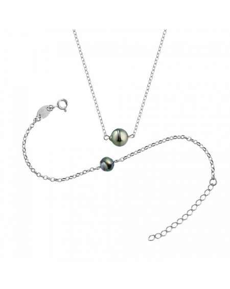 Tahitian Pearls bracelet & necklace SET