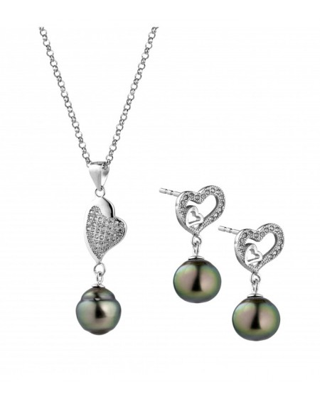 Tahitian Pearls earrings & pendant SET