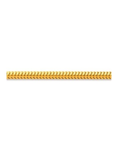 CHAÎNE MAILLE FORCAT DOUBLE 1,7mm Or Jaune 750/00 (18 cts)