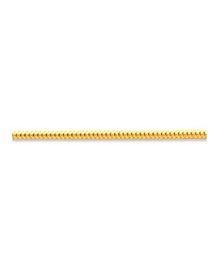 CHAÎNE MAILLE FORCAT DOUBLE 1,6mm Or Jaune 750/00 (18 cts)