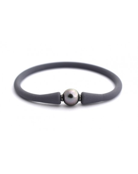 pink pacific sunset Tahitian Pearl silicone bracelet