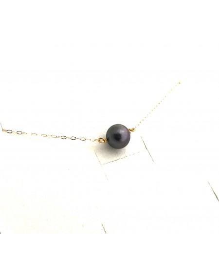 tahitian pearl 18K gold necklace