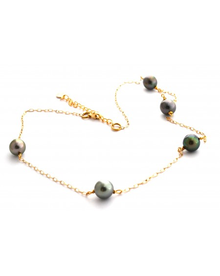 Collier or gold-filled 14 carats Perles de Tahiti