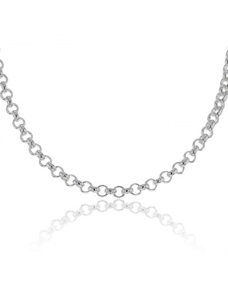 SOLID SILVER 3MM 55 CMS CHAIN