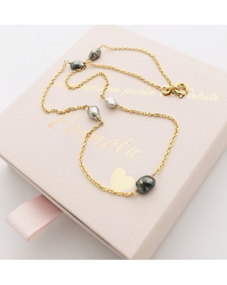 keshi 18K yellow gold necklace