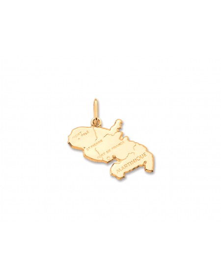 Guadalupe map 18K gold pendant
