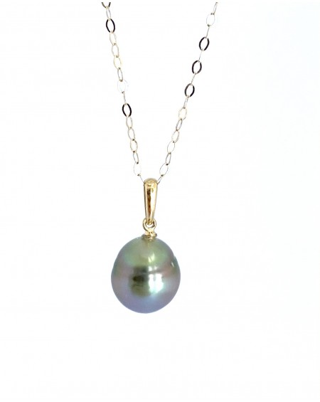 Tahitian Pearl 18K gold Pendant + offered chain