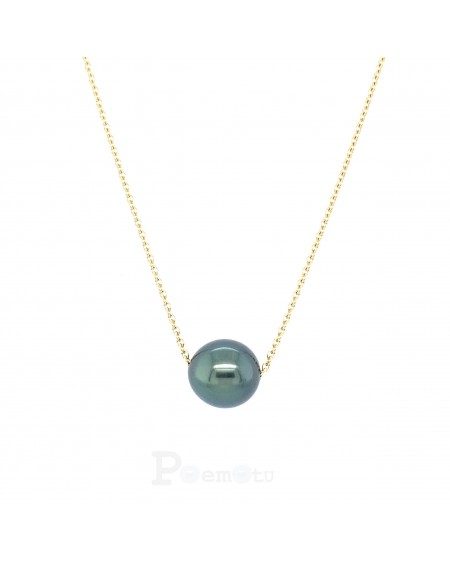 Collier or 750/00 Perle de Tahiti