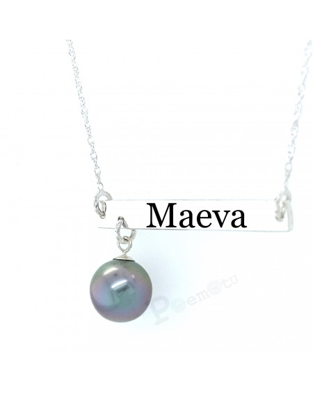 firthname tahitian pearl 925 silver necklace