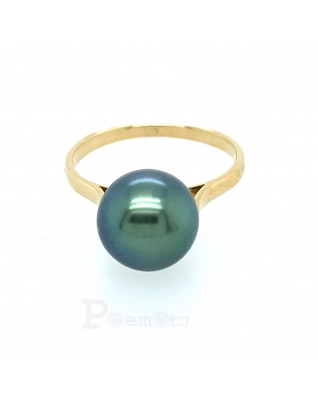 PISTACHIO TAHITIAN PEARL YELLOW 18K GOLD RING