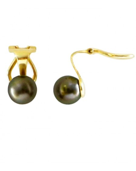 TAHITIAN CULTURED PEARLS 18K GOLD EARRINGS