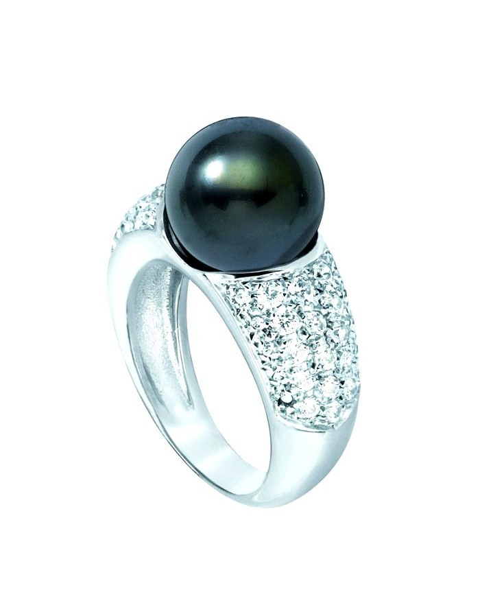 white gold tahitian pearl s ring
