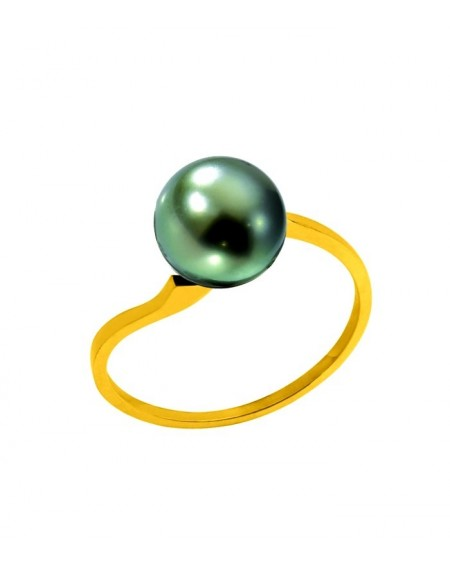 TAHITIAN PEARL 18 K GOLD RING