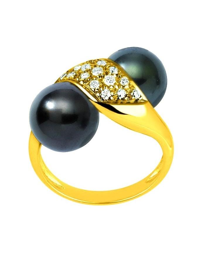 yellow gold tahitian pearl s ring