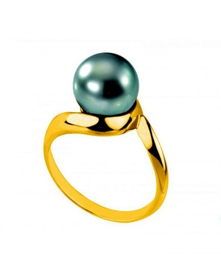 TAHITIAN PEARL YELLOW GOLD RING