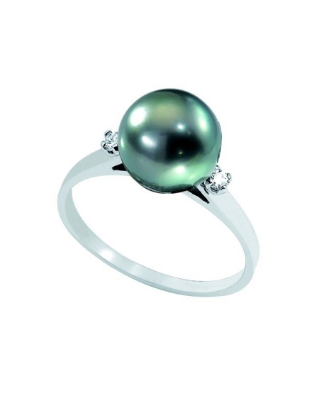 TAHITIAN PEARL 18K yellow GOLD RING