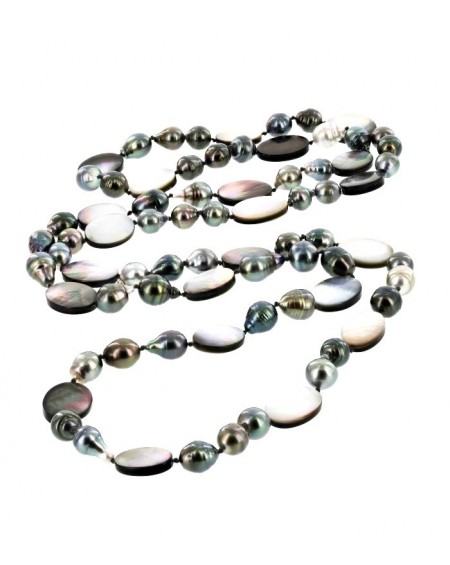 Tahitian Pearls and nacre Necklace