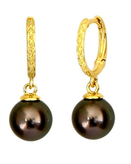 Tahitian Pearls Diamonds gold earrings