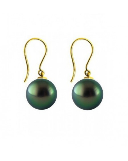 Tahitian pearls gold earrings